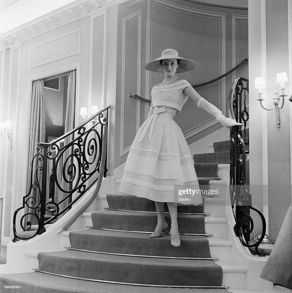 Organdie Dress By Dior : News Photo