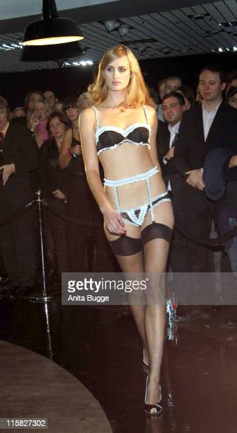 Model Wearing Agent Provocateur during Agent Provocateur Fashion Show Fall 2006 at Galeries Lafayette in Berlin Germany