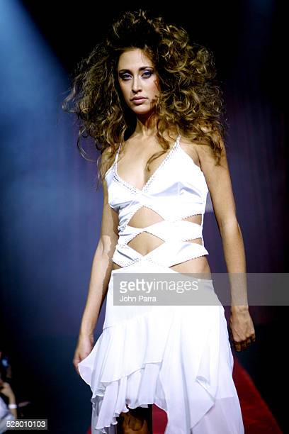 Model wearing Ana Cato during Ana Cato Fashion Show December 16 2004 at Mansion in Miami Beach Florida United States