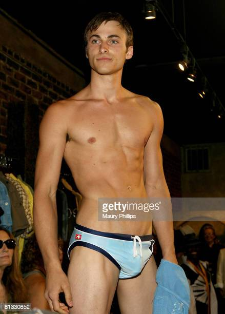Model wearing Andrew Christian during the Grand Opening of Pupe at New York New York on June 1 2008 in Los Angeles California
