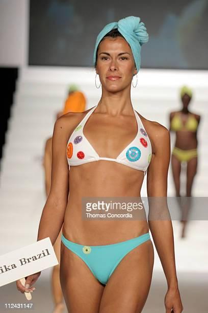 Model wearing Anika Brazil during Sunglass Hut Swim Shows Miami Presented by LYCRA Swimwear Association of Florida Fashion Show Runway at Jackie...