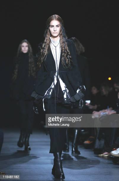 Model wearing Ann Demeulemeester Fall/Winter 2007