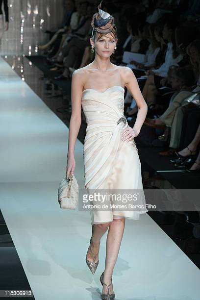 Model wearing Armani Privee Autumn/Winter 20062007