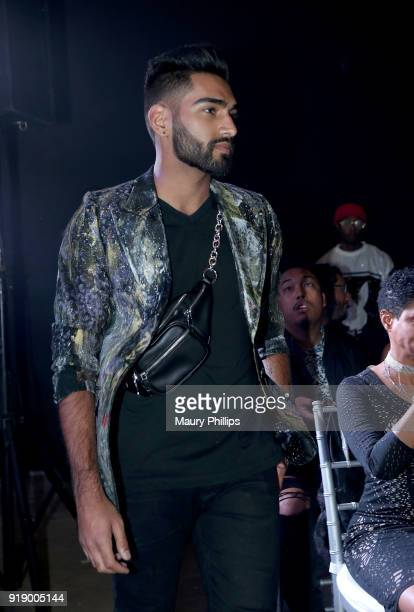 Model wearing Artnevow during the 2018 Beauty The Beats Celebrity Party and Panel Discussion at Dream Magic Studios on February 15 2018 in Canoga...