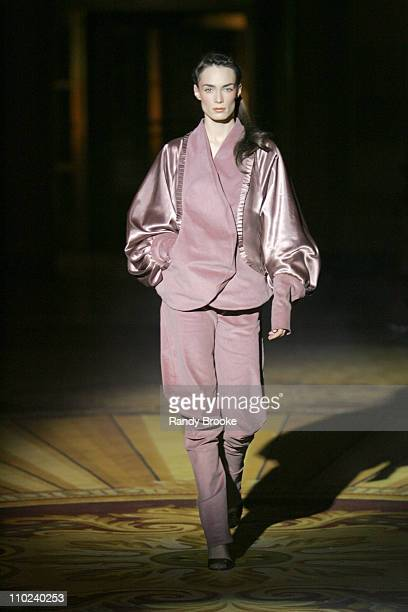 Model wearing As Four Fall 2005 during Olympus Fashion Week Fall 2005 As Four Runway at Gotham Hall in New York City New York United States