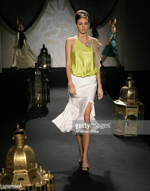 Model wearing Ashley Isham Spring/Summer 2006 during Singapore Fashion Festival 2006 - Ashley Isham Presented by Mercedes-Benz - Runway at The Tent...