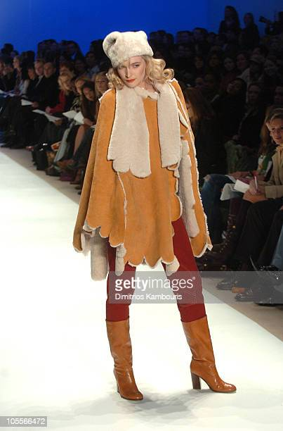 Model wearing Austin Scarlett for Project Runway Fall 2005