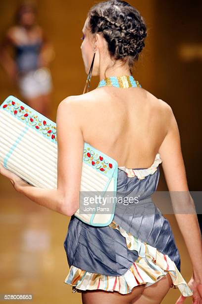 Model wearing Baby Phat during Funkshion Fashion Week Miami Baby Phat Spring/Summer 2005 Collection at The Moore Building in Miami Florida United...