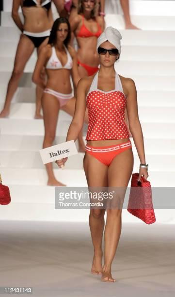 Model wearing Baltex during Sunglass Hut Swim Shows Miami Presented by LYCRA Swimwear Association of Florida Fashion Show Runway at Jackie Gleason...