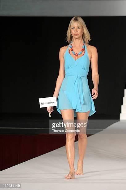 Model wearing Belabumbum during Sunglass Hut Swim Shows Miami Presented by LYCRA Swimwear Association of Florida Fashion Show Runway at Jackie...