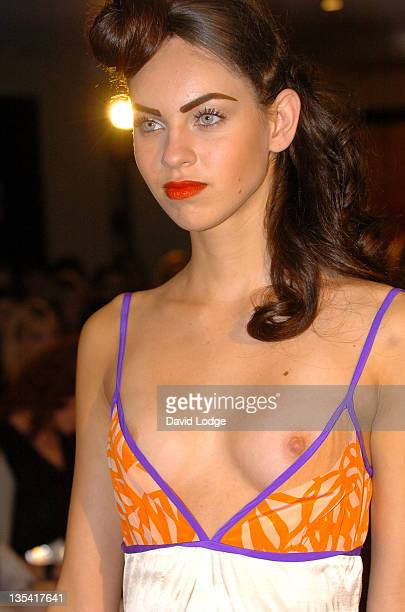 Model wearing Belle Bunty Spring/Summer 2006 during London Fashion Week Spring/Summer 2006 Belle Bunty Runway at Millenium Hotel in London Great...