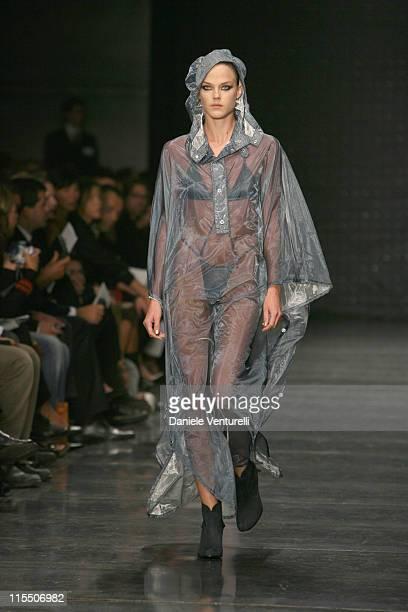 Model wearing Belstaff Spring/Summer 2007 during Milan Fashion Week Spring/Summer 2007 Belstaff Runway at Milano Moda Donna Sala Montenapoleone in...