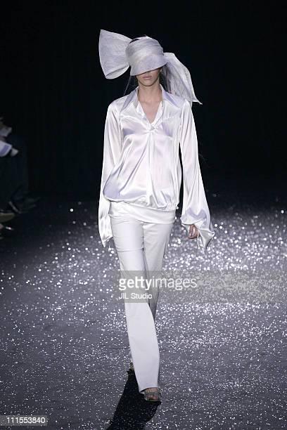 Model wearing BESPOKE GALLERY Spring/Summer 2006 during Tokyo Fashion Week Spring/Summer 2006 - BESPOKE GALLERY - Runway at Meiji Jingu Memorial...