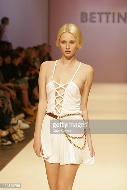 Model Wearing Bettina Liano Spring/Summer 2006 Designs