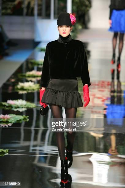 Model wearing Blugirl Fall/Winter 2007 during Milan Fashion Week Fall/Winter 2007 - Blugirl - Runway at Velodromo Vigorelli in Milan, Italy.