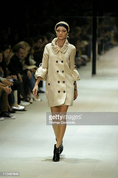 Model wearing Burberry Prorsum Spring/Summer 2007 during Milan Fashion Week Spring/Summer 2007 Burberry Prorsum Runway in Milan Milan Italy