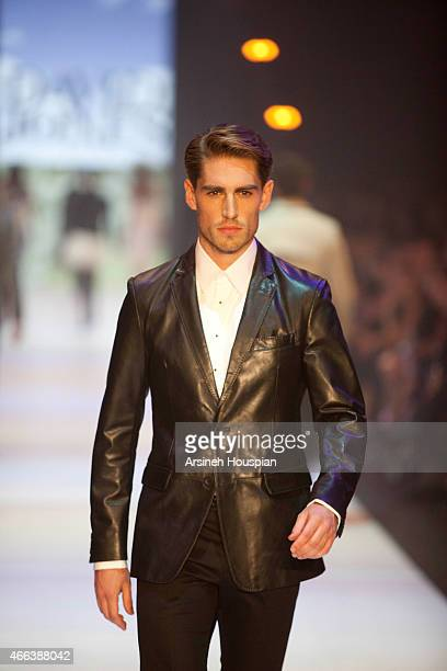 Model wearing Calibre at the opening of the 2015 Melbourne Fashion Festival on March 14 2015 in Melbourne Australia