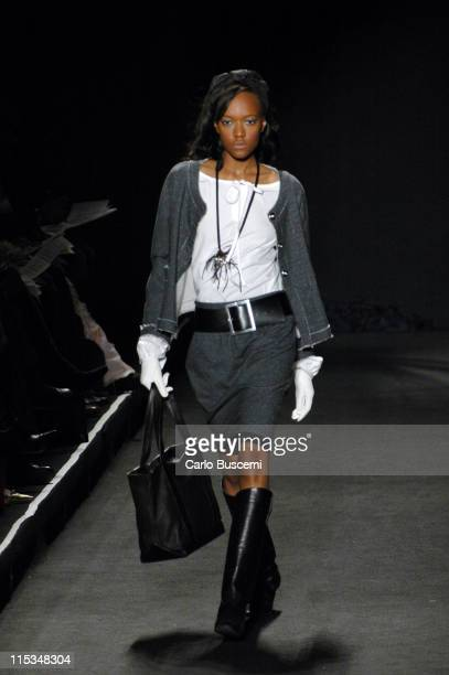 Model wearing Charles Nolan Fall 2006 during Olympus Fashion Week Fall 2006 Charles Nolan Runway at The Tent Bryant Park in New York City New York...
