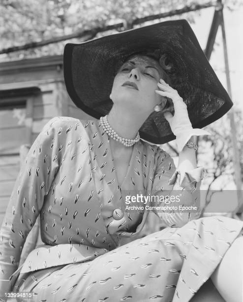 A model wearing Christian Dior fashions in Venice 3rd June 1951