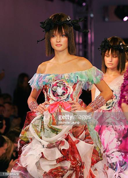 Model wearing Christian Lacroix Spring/Summer 2007