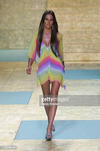 Model wearing Cia Maritima Spring/Summer 2006 during Sao Paulo Fashion Week Spring/Summer 2006 Cia Maritima Runway at Museum of Modern Art in Sao...