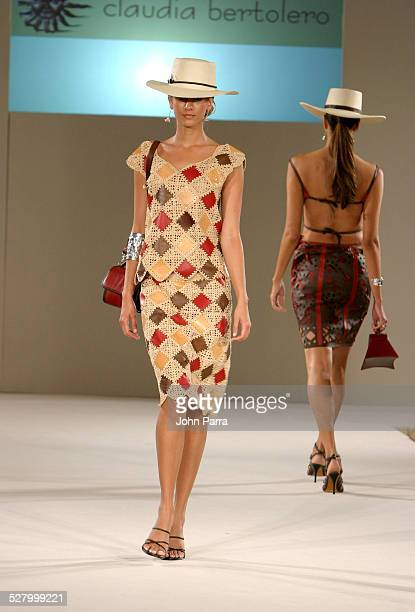 Model wearing Claudia Bertolero 2005 Spring Collection
