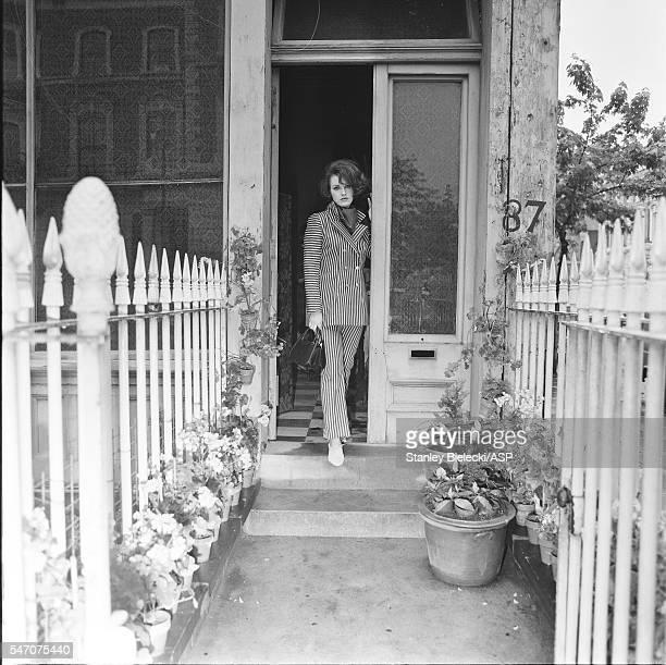 A model wearing clothes from Biba London circa 1965