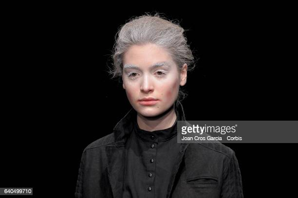A model wearing clothes from Oscar Leon during the second day of 080 Barcelona Fashion Week on January 31 2017 in Barcelona Spain n