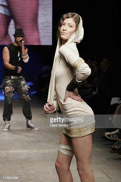 Model Wearing Designs by Davis Eyes 2007 during Rosemount Australian Fashion Week Transeasonal 2007 - New Generation - Runway at St Kilda Baths in...