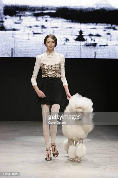 Model Wearing Designs by Show Off 2007 during Rosemount Australian Fashion Week Transeasonal 2007 - New Generation - Runway at St Kilda Baths in...