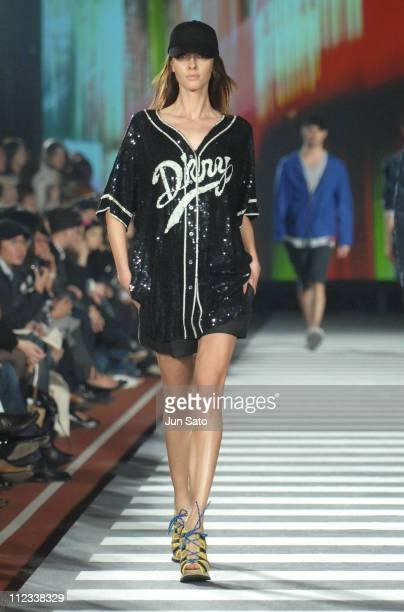 Model wearing DKNY Spring/Summer 2007 during DKNY Spring/Summer 2007 - Runway at Kasumigaoka National Stadium in Tokyo, Japan.