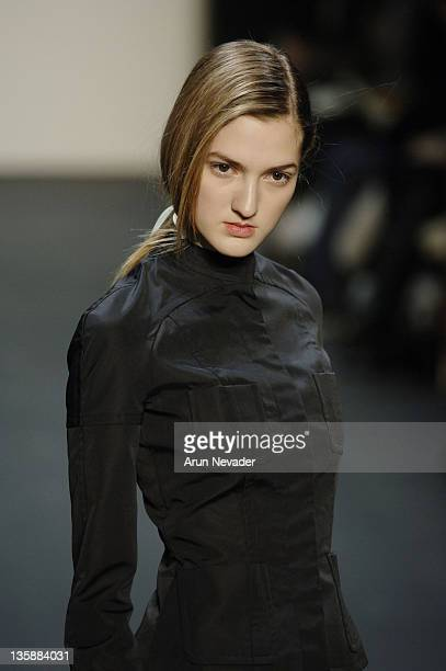 Model wearing Dragana Ognjenovic Fall 2007 during MercedesBenz Fashion Week Fall 2007 Dragana Ognjenovic Runway at The Showroom Bryant Park in New...