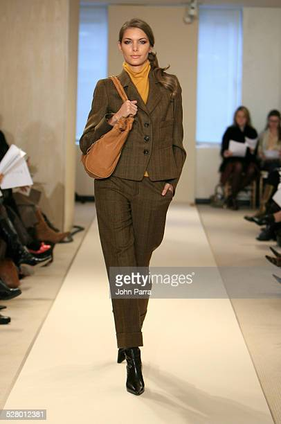 Model wearing Ellen Tracy Fall 2006 during Olympus Fashion Week Fall 2006 Ellen Tracy Runway at 575 Seventh Ave in New York City New York United...