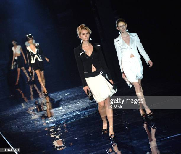 """Model Wearing Emporio Armani Spring/Summer 2007 during London Fashion Week Spring/Summer 2007 - Emporio Armani """"One Night Only"""" - Runway in London,..."""