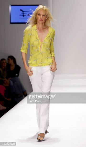 Model wearing Esteban Cortazar during Funksion Fashion Week Miami - Esteban Cortazar - Spring/Summer 2005 at The Moore Building in Miami, Flordia,...
