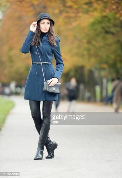 Model wearing Fall Fashion, Outdoor