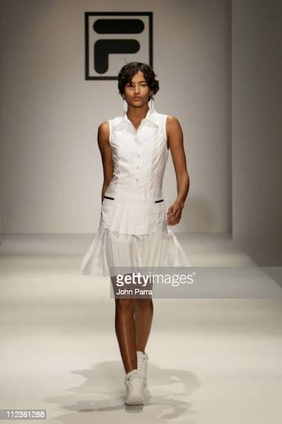 Model wearing Fila Fall 2006 during Funkshion Fashion Week Miami Beach Fall 2006 Fila Runway at Funkshion Tent on Ocean Drive in Miami Beach Florida...