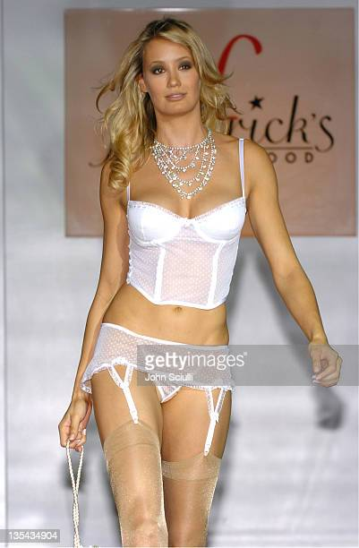 Model wearing Frederick's of Hollywood Fahion Corset's For A Good Cause