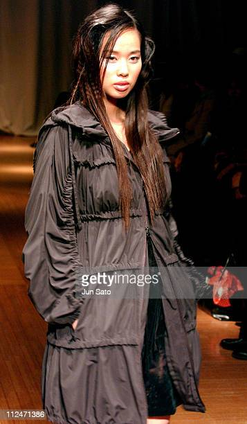 Model wearing Fumio Akiyama Fall 2004 during Tokyo Fashion Week Fall-Winter 2004 - Fumio Akiyama at Modapolitica 1 in Tokyo, Japan.