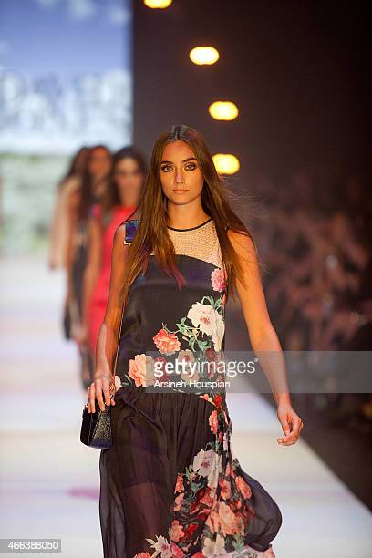 Model wearing Ginger Smart at the opening of the 2015 Melbourne Fashion Festival on March 14 2015 in Melbourne Australia
