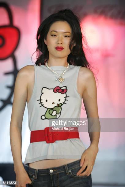 Model Wearing Hello Kitty