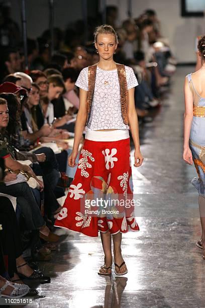 Model wearing Isabela Capeto Spring/Summer 2006 during Sao Paulo Fashion Week SpringSummer 2006 Isabela Capeto Womenswear Runway at Museum of Art...