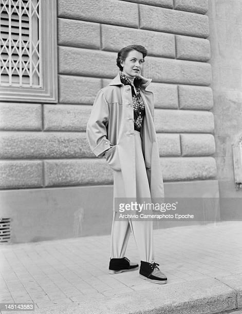 A model wearing Italian fashions Italy 21st July 1951