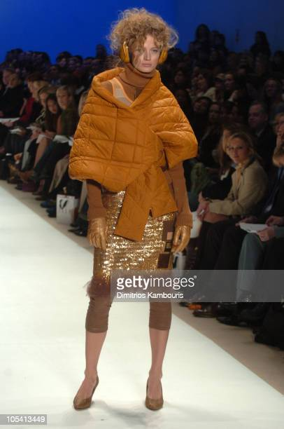 Model wearing Jay McCarroll for Project Runway Fall 2005