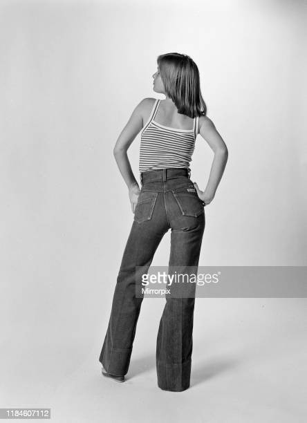 Model wearing Jeans photoshoot Thursday 3rd June 1976