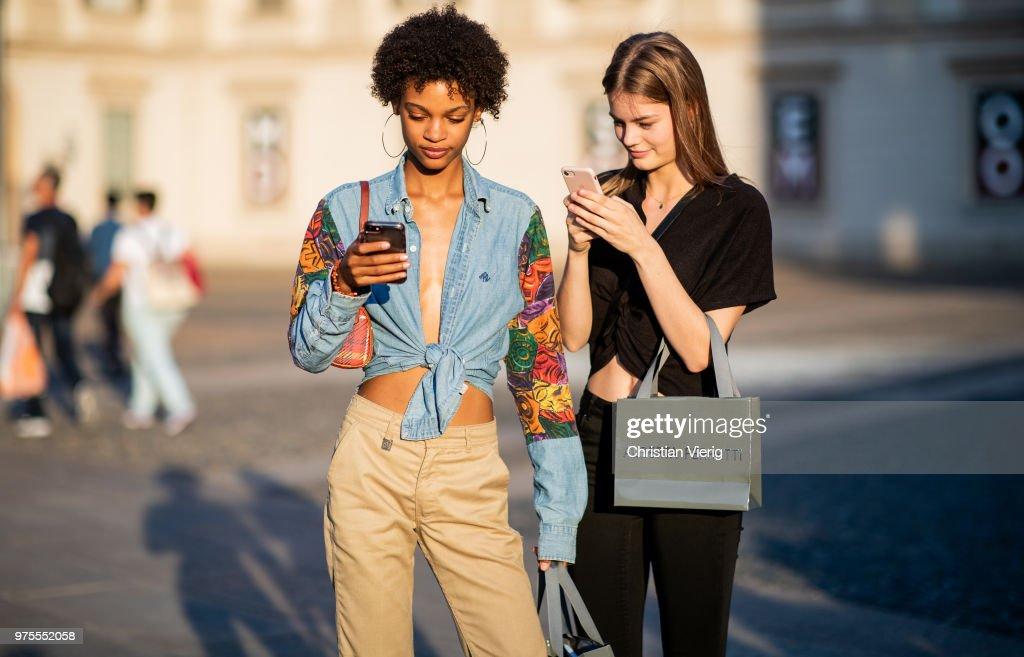 Street Style: June 15 - Milan Men's Fashion Week Spring/Summer 2019 : News Photo