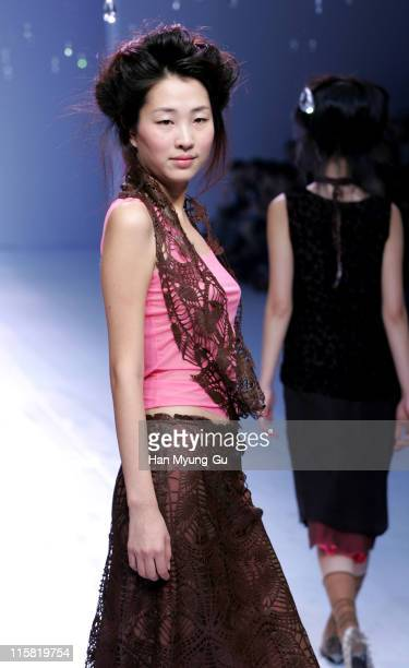 Model wearing Jin TeOk during Seoul Fashion Week Spring/Summer 2005 Collections Jin TeOk at Seoul Trade Exhibition Center in Seoul South South Korea