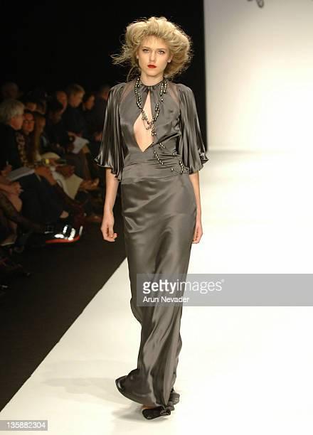 Model wearing Kara Saun Fall 2006 during Mercedes-Benz Fall 2006 L.A. Fashion Week at Smashbox Studios - Kara Saun - Runway at Smashbox Studios in...