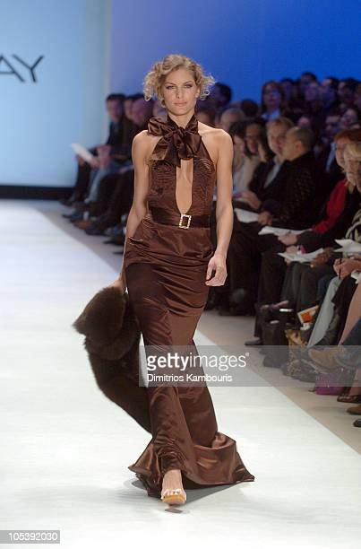Model wearing Kara Saun for 'Project Runway' Fall 2005