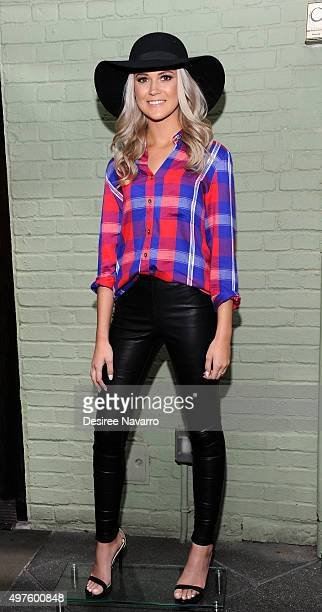 A model wearing 'Kittenish' poses during Jessie James Decker's 'Kittenish' Clothing Launch at Gramercy Park Hotel on November 17 2015 in New York City